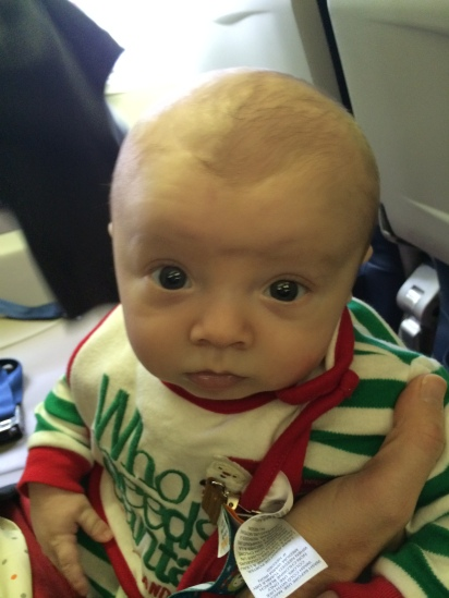 Minutes before departure, Simon  reflects his parents' uncertainty over his first flight.