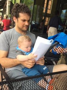The heroic DD and Simon peruse the menu of my chosen vegan lunch stop in Columbia, SC with skepticism.