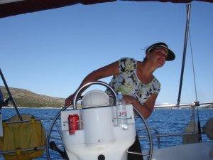Mom sailing